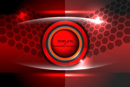 template tech red background, Illustration Ilustração