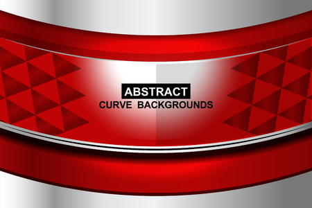 sharp curve: red curve abstract background, Vector Illustration