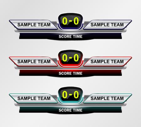 Sport Scoreboard Time Template for Footbll and Soccer illustration Vektorové ilustrace