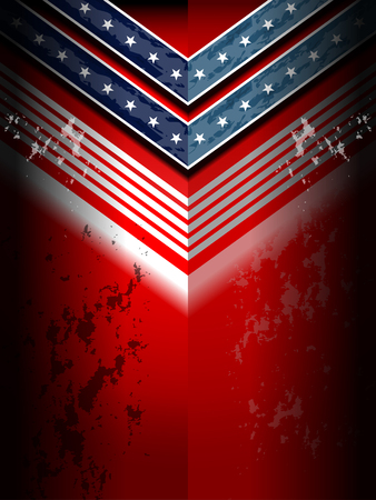 patriotic america: american flag backgrounds template, vector illustration