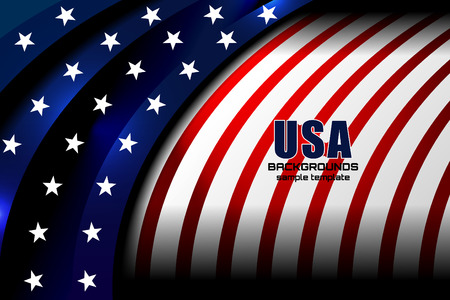 flag usa backgrounds style, vector illustration
