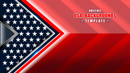 american flag backgrounds template, vector illustration