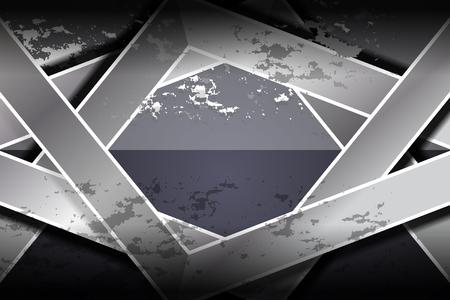 grunge textures: dark geometric grunge textures background, Vector Illustration