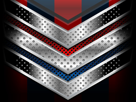 red metallic: blue red metallic background designs, Vector Illustration Illustration