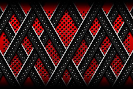 red metal: red metal lines backgrounds designs, Vector Illustration