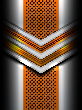 Resumen de diseño de metal de fondo, ilustración vectorial