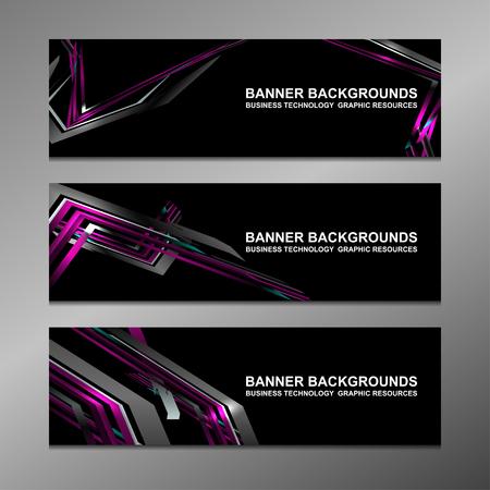 technology banner: Business Banners Template Design, vector illustration