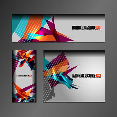 blank banner: Business Banners Template Design, vector illustration