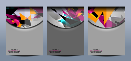 blank banner: Business Geometric Banners Backgrounds Design, vector illustration