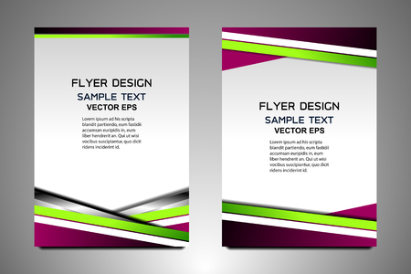 page layout: Business Flyer Template Design, vector illustration