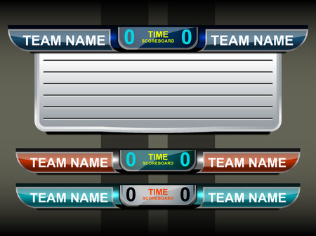 soccer field: template scoreboard sports for football and soccer, vector illustration