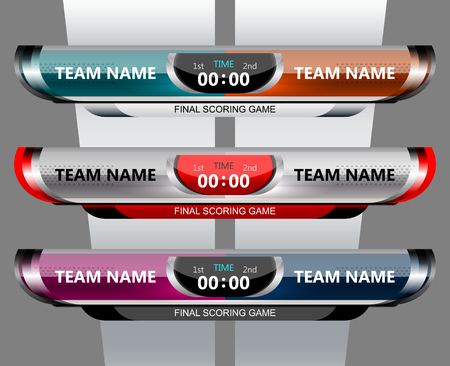 scoreboard broadcast template for football and soccer, vector illustration Illustration