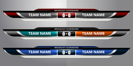 soccer field: template scoreboard sports for football or soccer, vector illustration