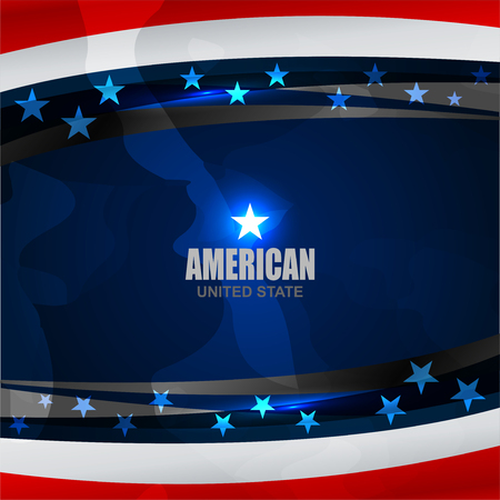 USA background on grunge texture for American Independence Day and other events, Vector illustration Illustration