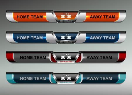 scoreboard design elements for sport, vector illustration