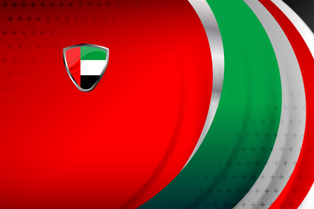 UAE banner for Independence Day and other events. Illustration