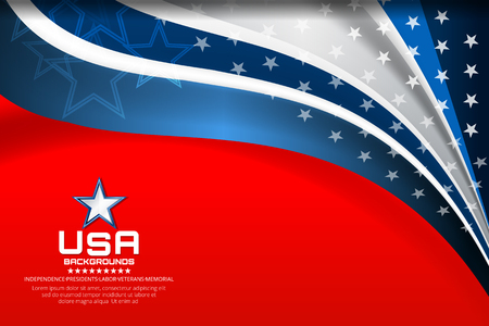 Flag of USA background for independence, veterans, memorial day and other events, Vector illustration Design Illustration