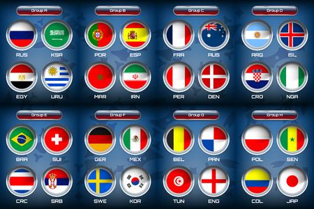 Vector Illustration of national flag for soccer tournament championship