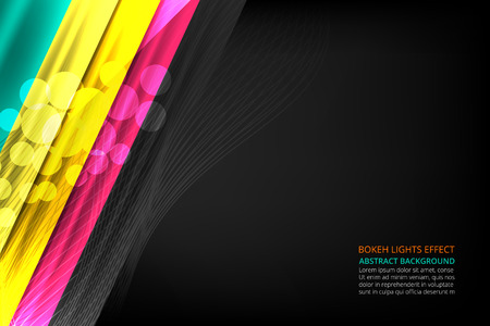 Vector illustration of Abstract Stripes Background with squares for business banner, poster, cover and advertising web design Ilustração