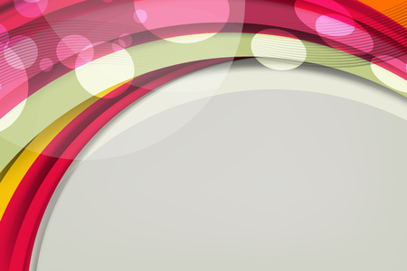 Vector illustration of Abstract Wavy Background with bokeh lights effect for business banner and advertising web design