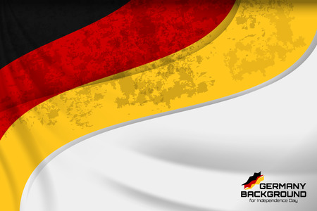 Germany flag concept background for Independence Day and other events, Vector illustration