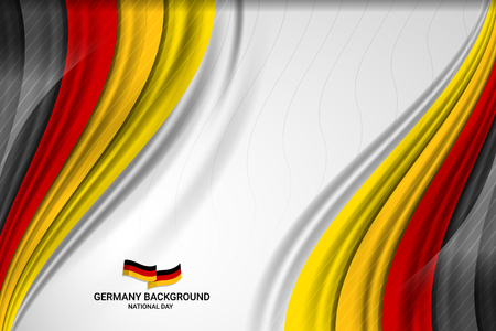 Flag of Germany Background for Independence Day and other events, Vector illustration Design with curve wavy