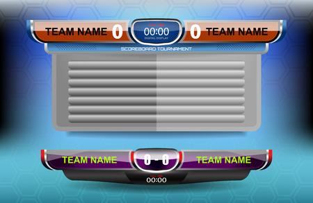 scoreboard of football or soccer, vector illustration Ilustração
