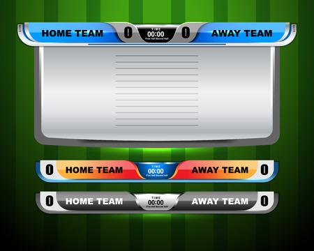Soccer Scoreboard Template, vector illustration Ilustração