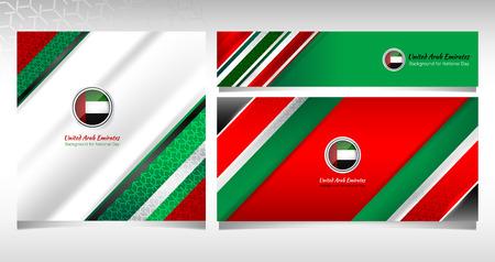 National Flag of United Arab Emirates Background Concept for Independence, National Day and other events, Vector Illustration Design Ilustração