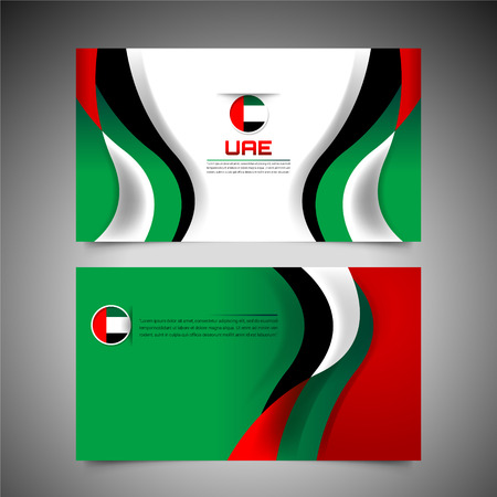 National Flag of United Arab Emirates Background Concept for Independence Day and other events, Vector Illustration Design