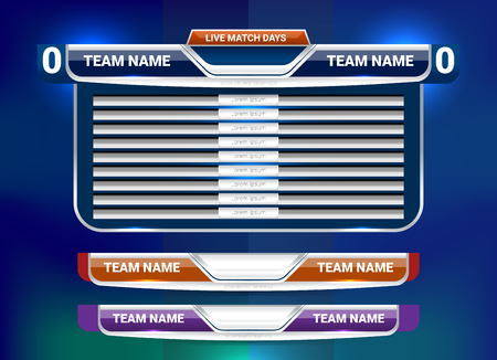 Scoreboard Broadcast und Lower Thirds Template für den Sport Fußball und Fußball