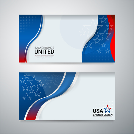 American Flag background for independence, veterans, labor, memorial day and other events, Vector illustration Design
