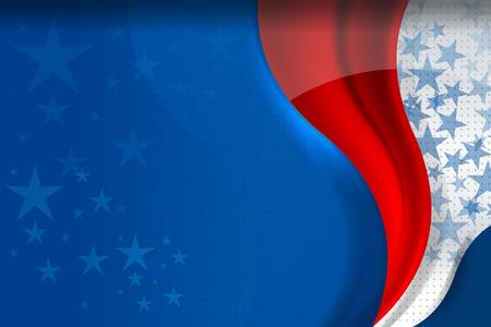 Flag of USA background for independence, veterans, memorial day and other events, Vector illustration Design Ilustração