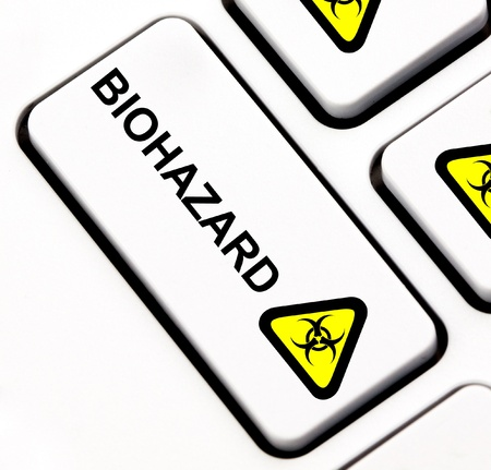 Biohazard keyboard key  Stock Photo - 13793090