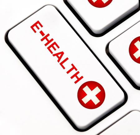 health reform: E-Health keyboard key