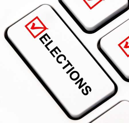 Elections keyboard key  Stock Photo - 13793102