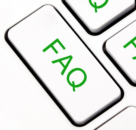 Frequently asked questions  FAQ  keyboard key  photo