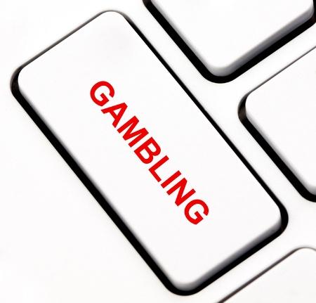 Gambling keyboard key  photo