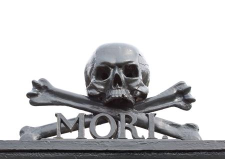 mori: A skull at a graveyard  Memento Mori