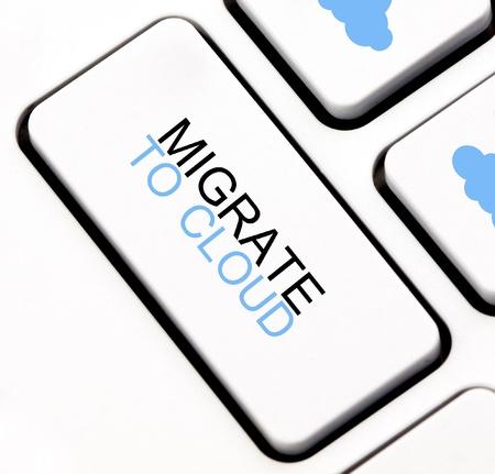 Migrar a la nube tecla del teclado