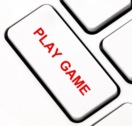 Play game keyboard key  photo