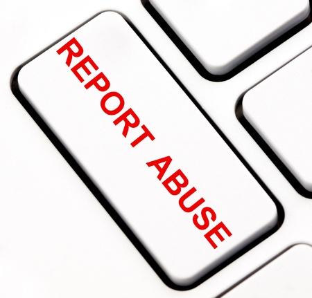 Report abuse keyboard key  photo
