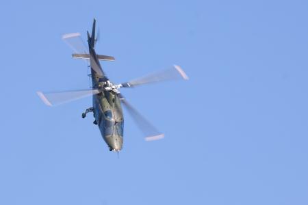 LEEUWARDEN,FRIESLAND,HOLLAND-SEPTEMBER 17: Agusta A-109 BA Hirundo helicopter of the Belgian Air Force at the Airshow on September 17, 2011 at Leeuwarden Airfield