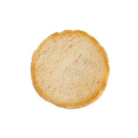 A round rusk, isolated on a white background