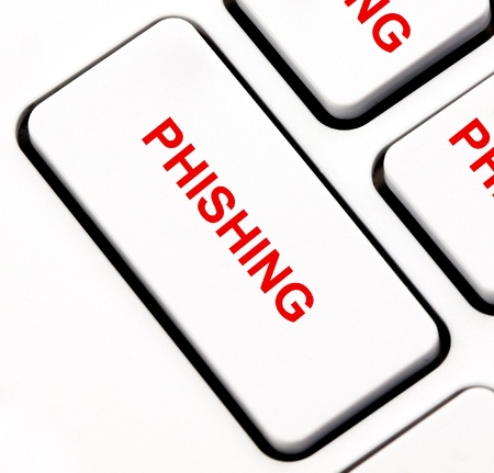 Phishing keyboard key Stock Photo