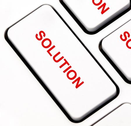 Solution keyboard key photo