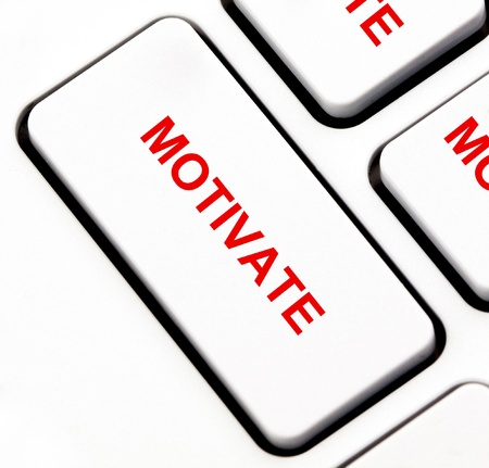 Motivate button on keyboard photo