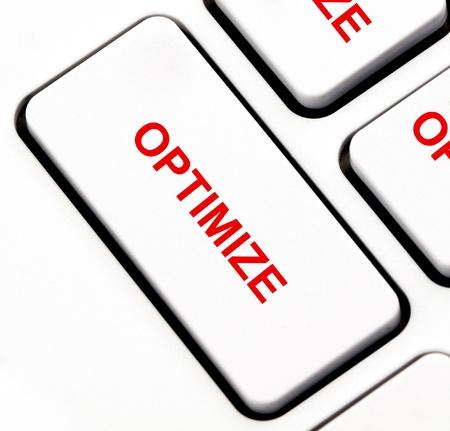 Optimize button on keyboard Stock Photo - 14968939