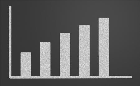 Finance business graph on a chalkboard Stock Photo - 15562527