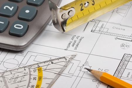 Building plans concept Stock Photo